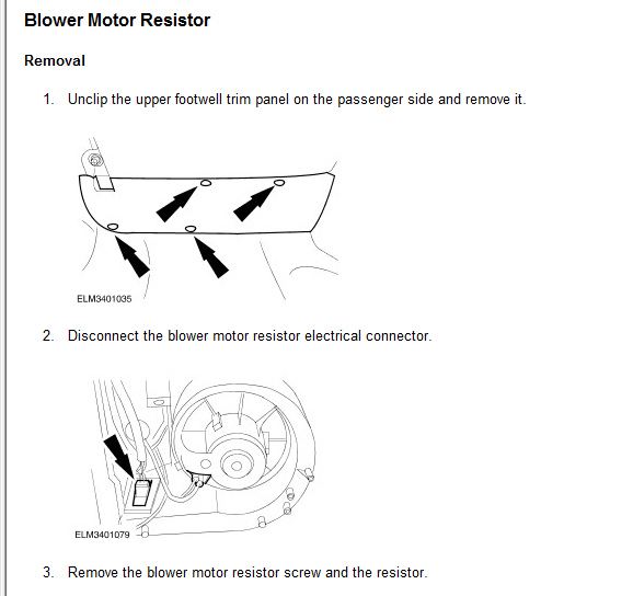 How Do I Replace The Blower Motor Resistor On A 1999 Ford Contour