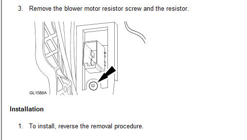 how do i replace the blower motor resistor on a 1999 ford contour. Black Bedroom Furniture Sets. Home Design Ideas