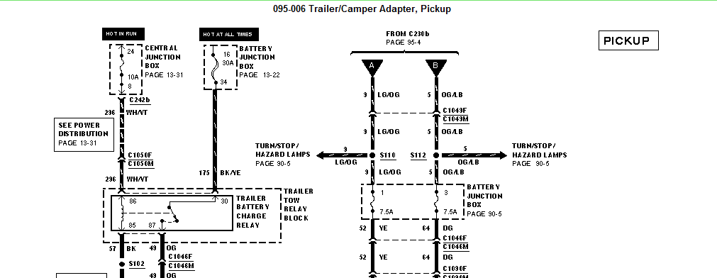 Need Wiring Diagram For Turn Signals And For A 2000 F 350