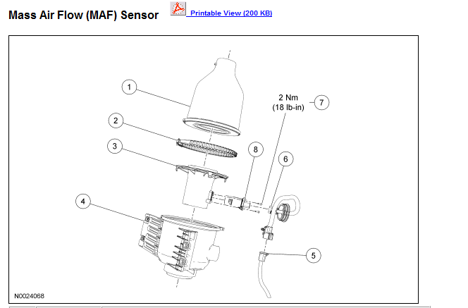 where is iat sensor located on 2006 ford e250