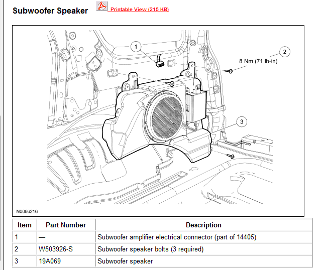Want To Add Subwoofer To Basic Audio System In 2008 Ford