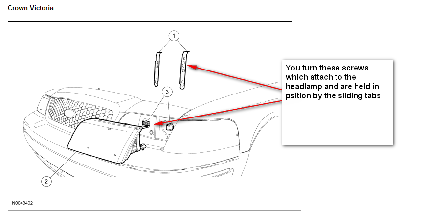 crown vic headlight adjustment