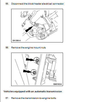 Whats The Procedure On Removing The Motor For A 2000 7 3 Powerstroke