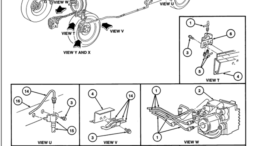 ford taurus brake line diagram