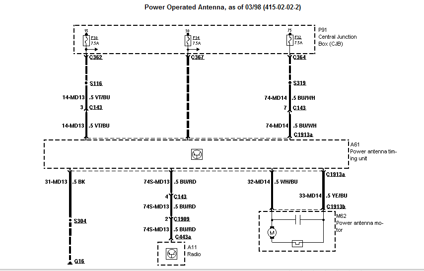 Need The Wiring Diagram Of The Radio For A 98 Mercury