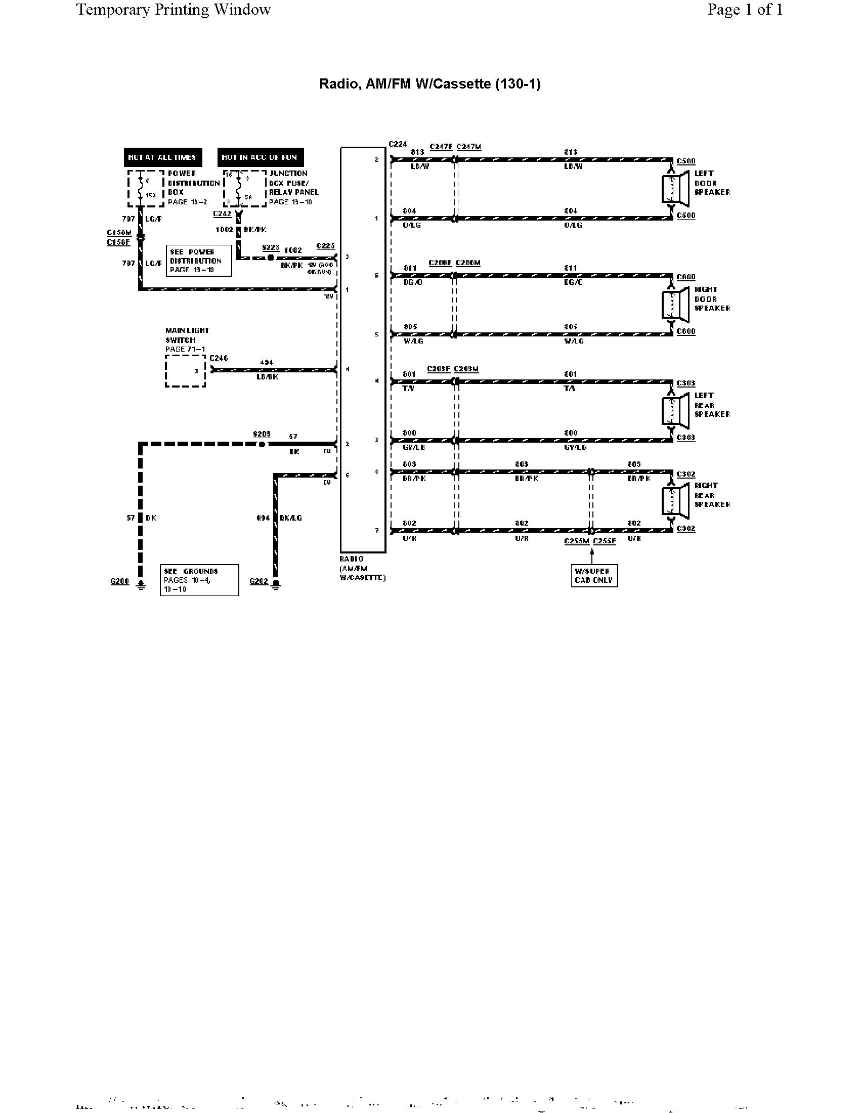 ford xl2f radio wiring diagram im changing my f150 radio/cassette to an explorer radio ... ford truck radio wiring diagram for a 1995 ford f 150 #1