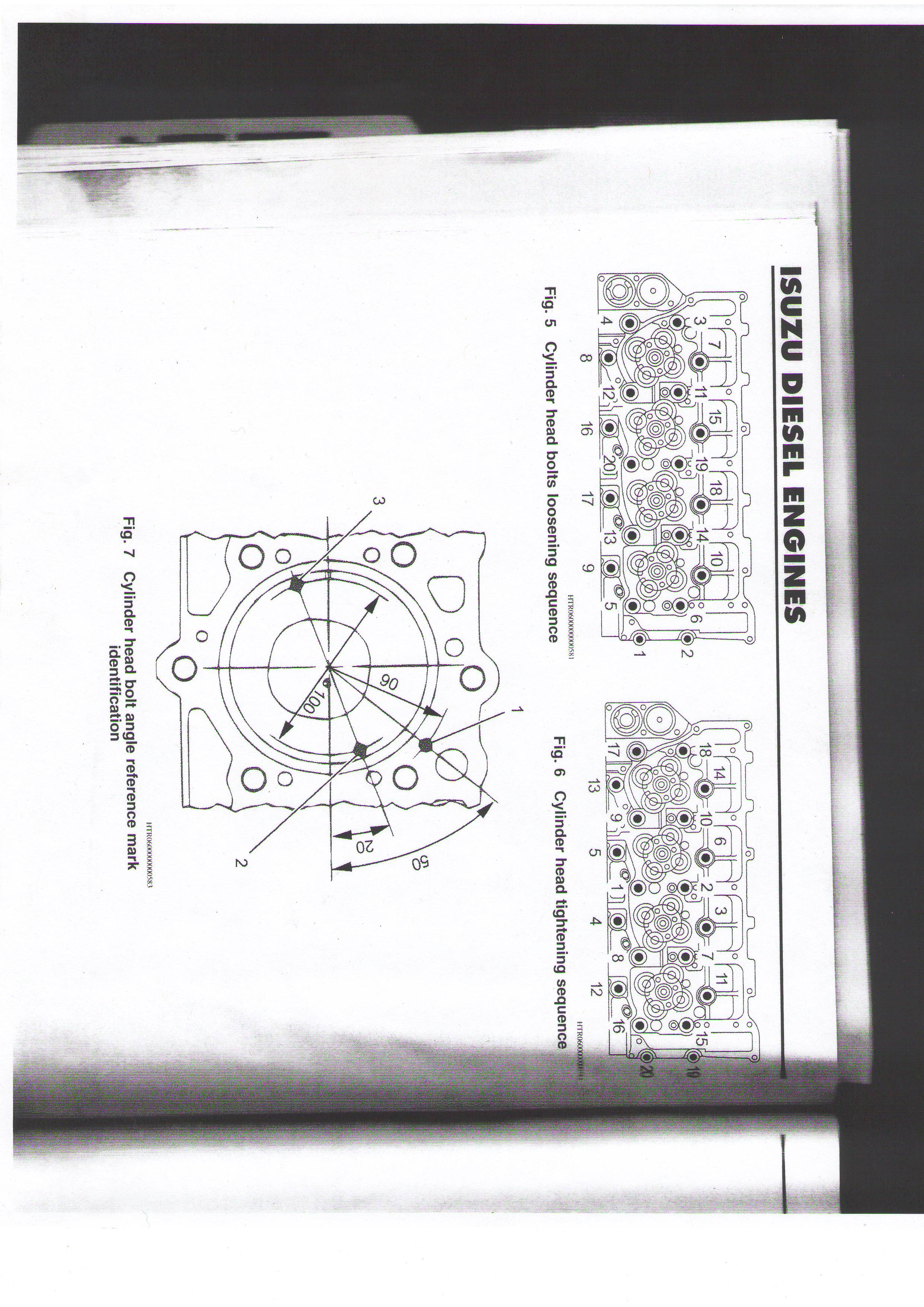 What is the torque sequence and torque spec for a 05 isuzu nqr – Isuzu 4hk1 Engine Timing Diagram