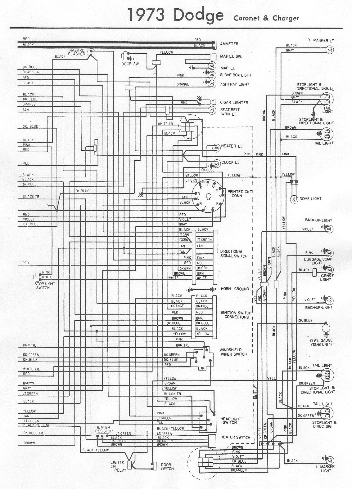1973 Dodge Charger Wiring Diagram Schematic 2019 2012 Challenger I Have A With 440 Magnum Recently Ignition