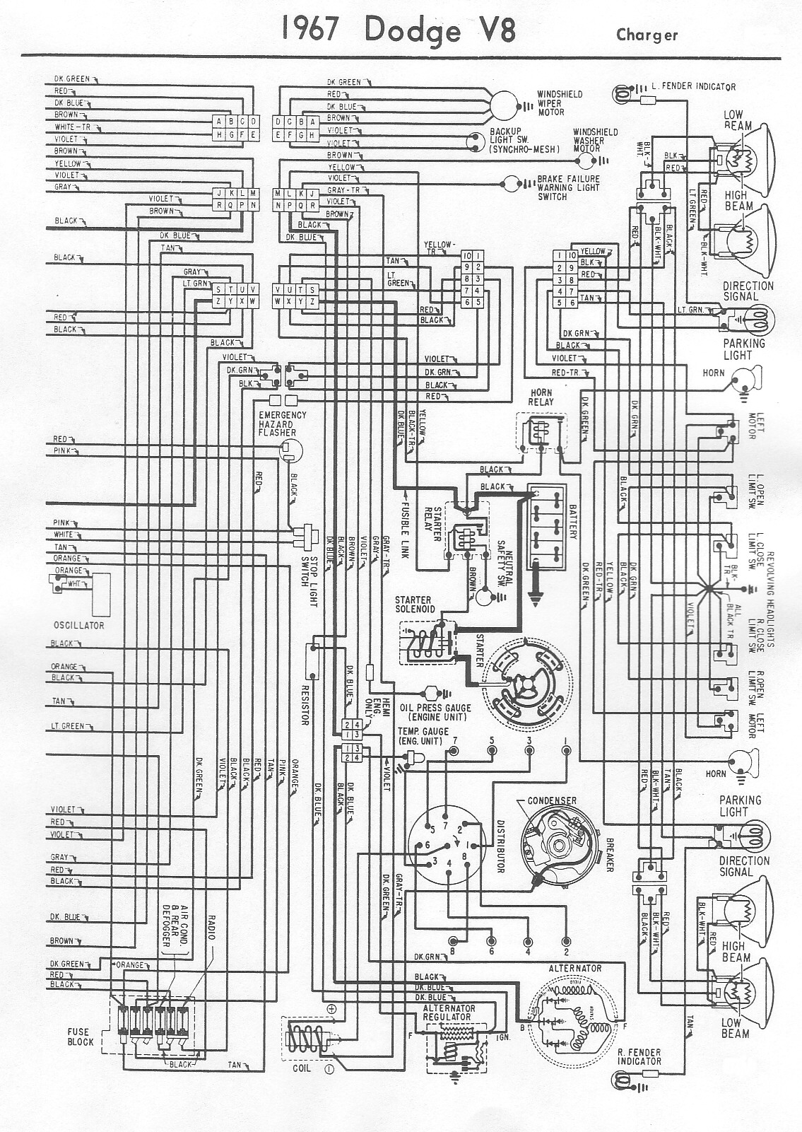 1967 Charger Wiring Diagram Trusted Diagrams 1968 Roadrunner 67 Product U2022