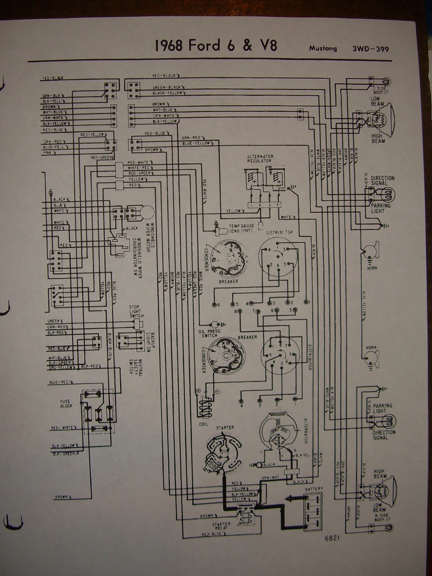68 Dash Lights Diagram Trusted Wiring Mustang Easy To Read Diagrams U2022 1968