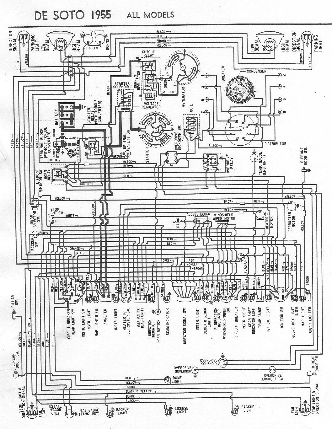 first let me confirm that this diagram for a 1955 is similar to your 1950 ?