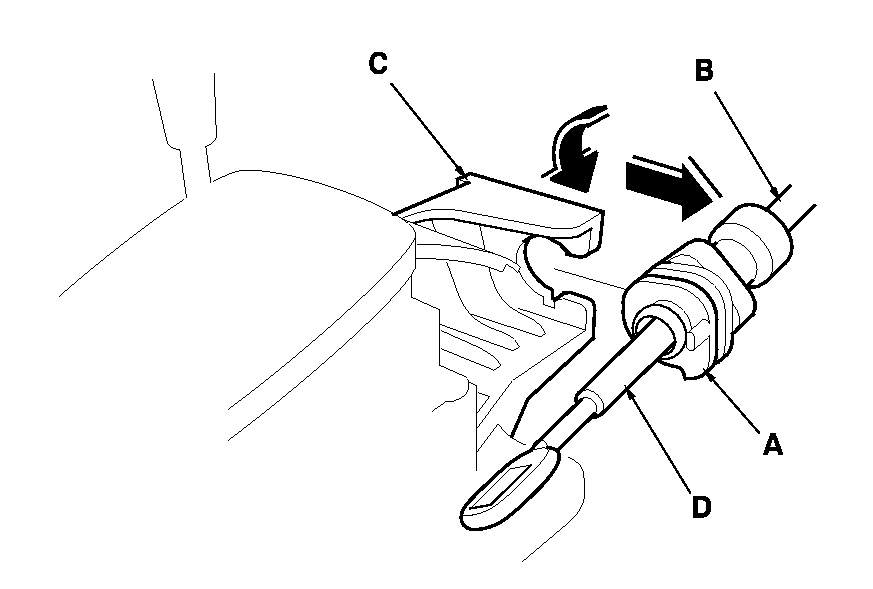 how do i remove the shift control cable from a 1998 honda accord lx 4