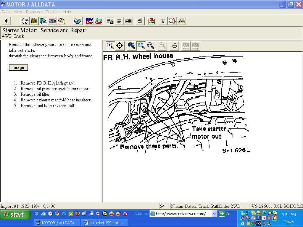 On A 4x4 1994 Nissan Pathfinder What Is The Easiest Way To Change Engine Diagram Graphic