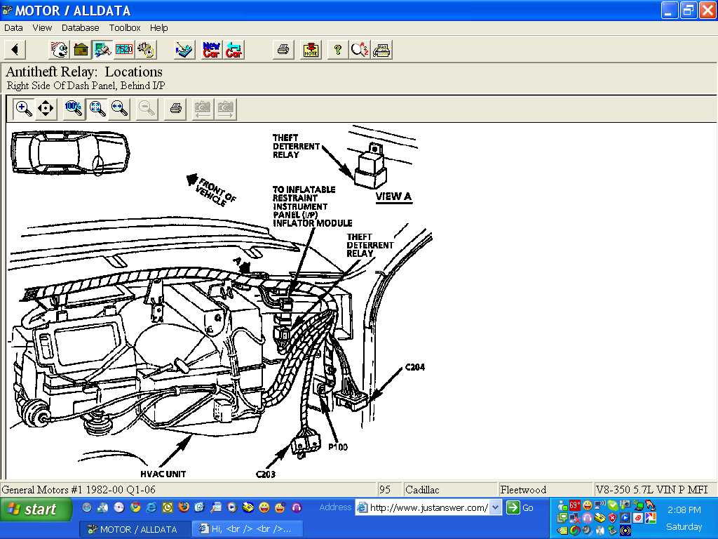 Im Trying To Find Where The Anti Theft Relay Is Located For 1994 Cadillac Fuse Diagram Graphic