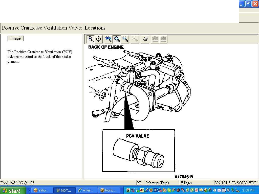 Where Is The Pcv Valve On 1997 Mercury Villager Ford Diagram Graphic