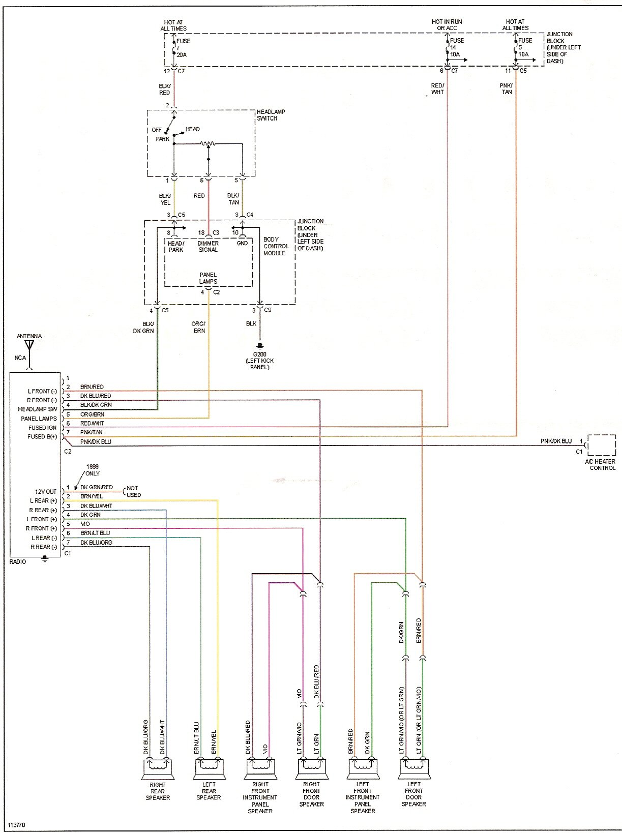 1994 Plymouth Acclaim Radio Wiring Diagram