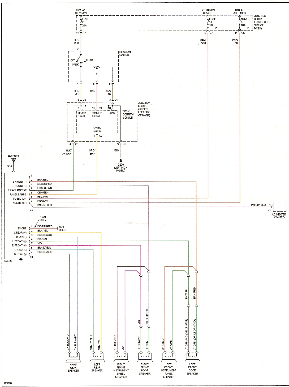 1997 Plymouth Breeze Fuse Diagram