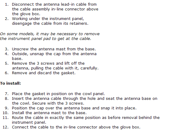 How Do You Replace Th Radio Antenna Cable On A 98 Rangerrhjustanswer: Radio Antenna For 2003 Ford Ranger At Gmaili.net