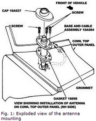 service manual  2000 ford f150 antenna replacement