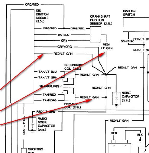 91 Ranger  Crank Sensor  The Eec  Dis  And Coils But I