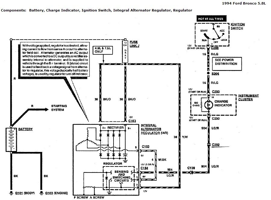 Wiring diagram ford truck ecm 1994