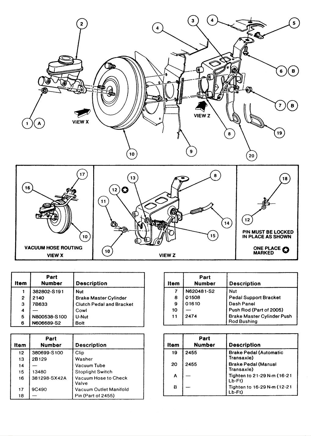 I Have A 1995 Ford Tauras Sho It Has Abs Brakes Just Replaced The Diagram With Booster Being Defective You Very Stiff Pedal And Feels Like Are Not Even Working