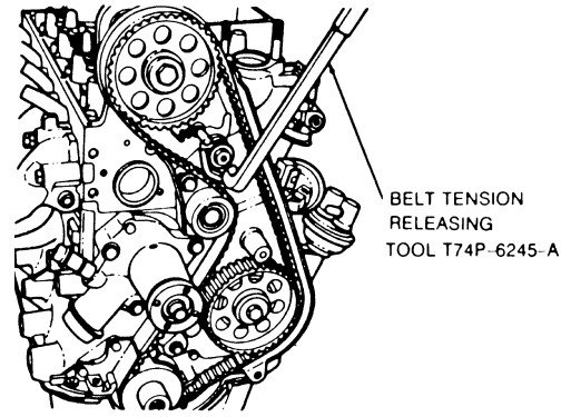 details on how to change timing belt on 1994 2 3l ford