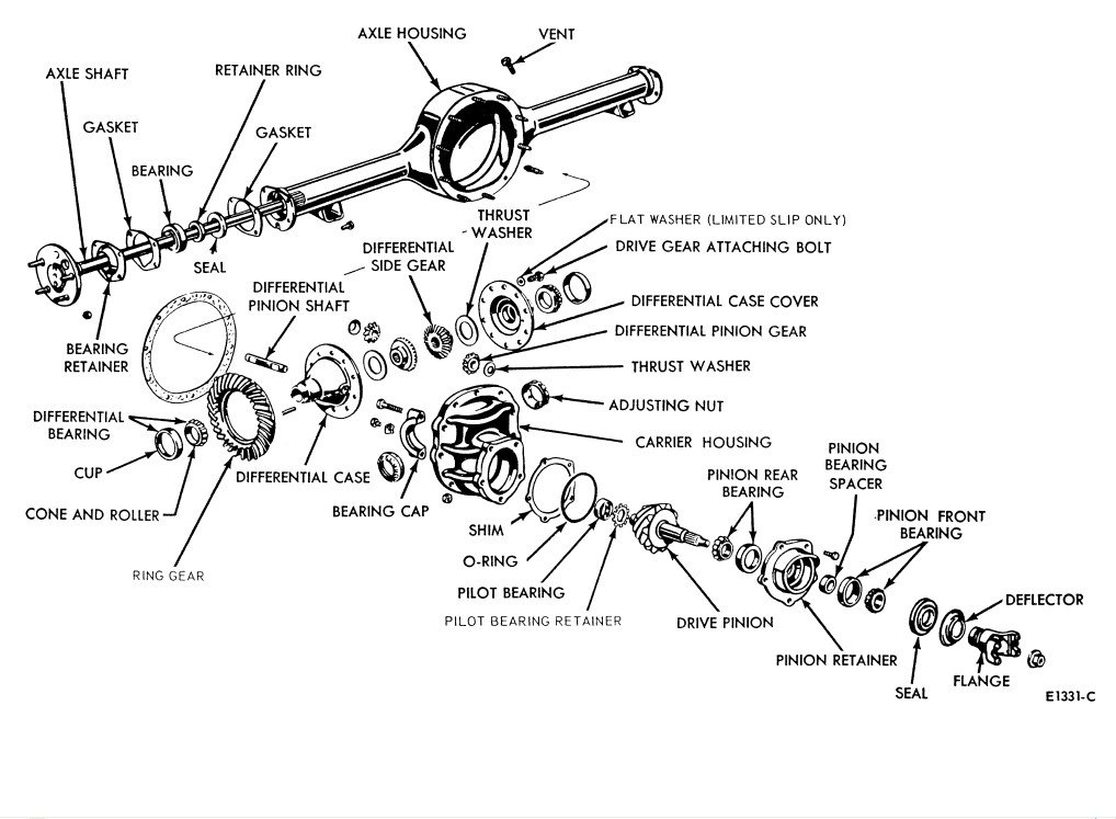 ford axle parts diagram