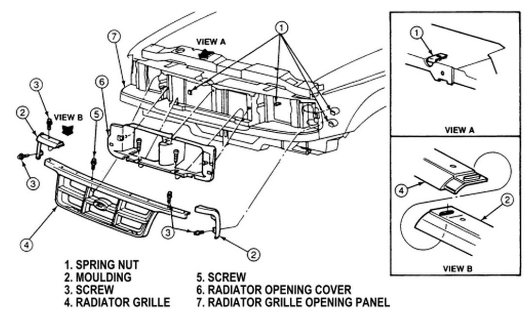 2005 ford escape front bumper parts diagram  ford  auto