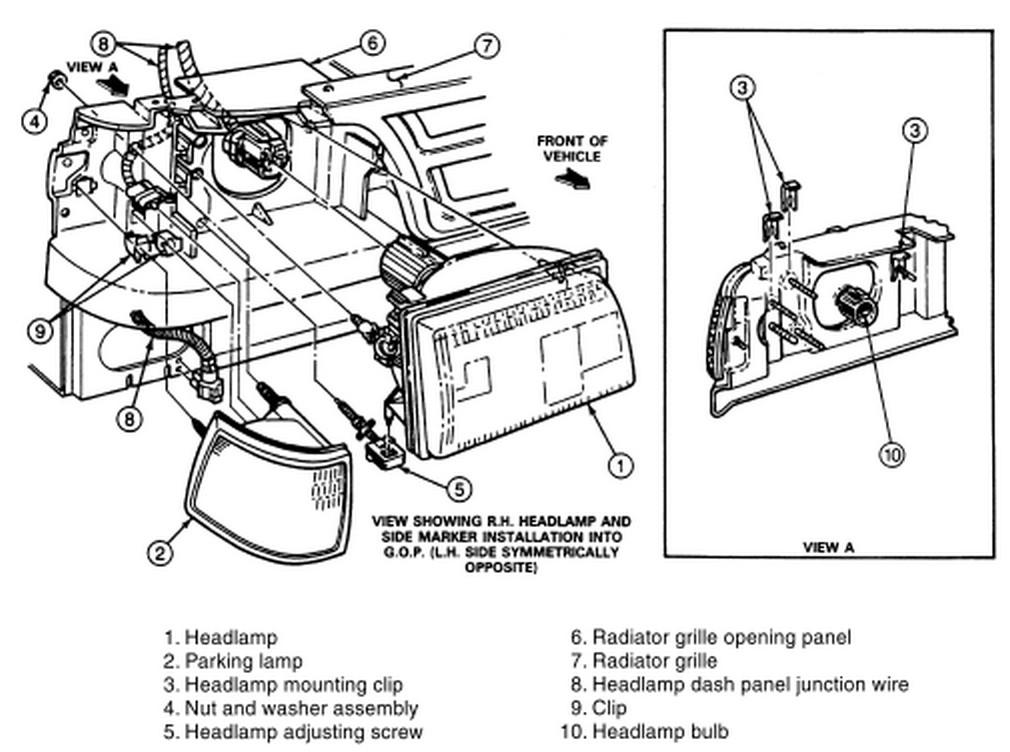 removal of headlight trim for 94 ford ranger stx