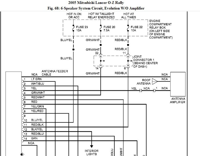 Need Wiring Schematics Or Car Stereo On Mitsubishi Lancer