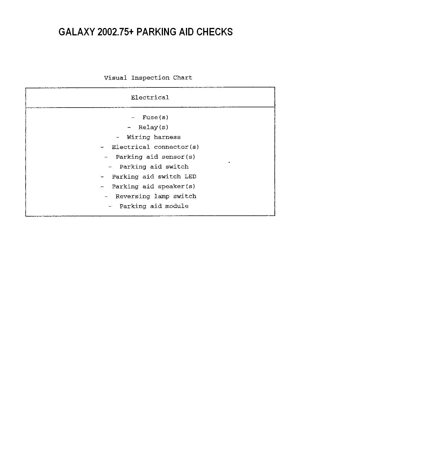 Ford Galaxy 19tdi 2003 Parking Sensor Fault One Of Front Sensors Is Mk2 Central Locking Wiring Diagram Hope This Helps