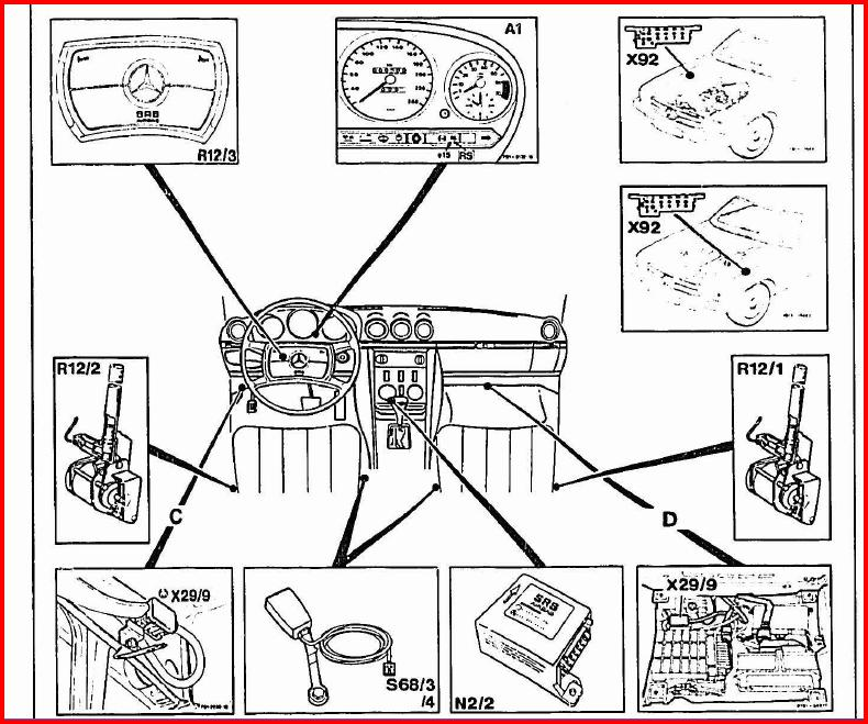 Where Is The Srs Control Module Located On The 1986 560sl The