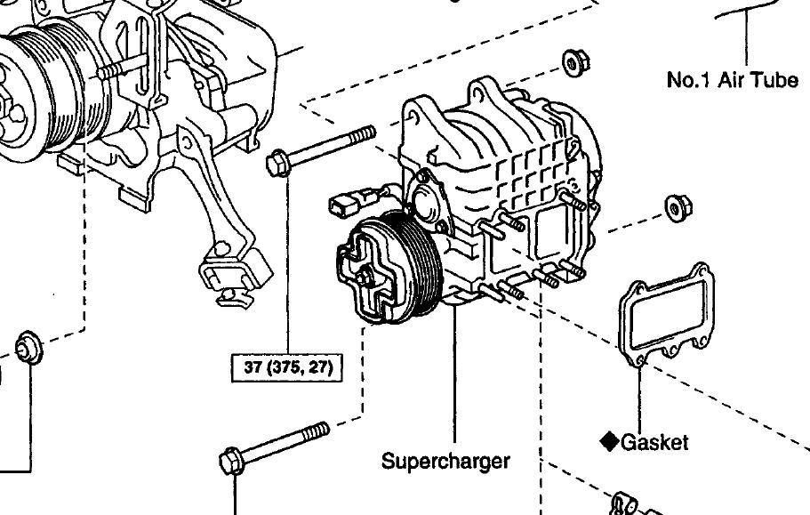 toyota previa supercharger diagram