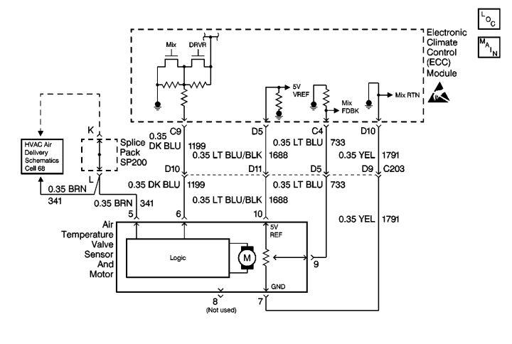 1998 Olds Bravada Automatic Heater Controls Heater Door