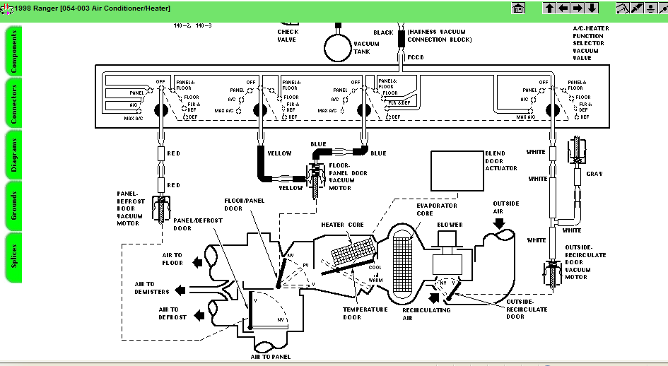 ford ranger starter wiring diagram 1998 ford ranger: need wiring diagram..blend..controls..servo 1998 ford ranger starter wiring diagram