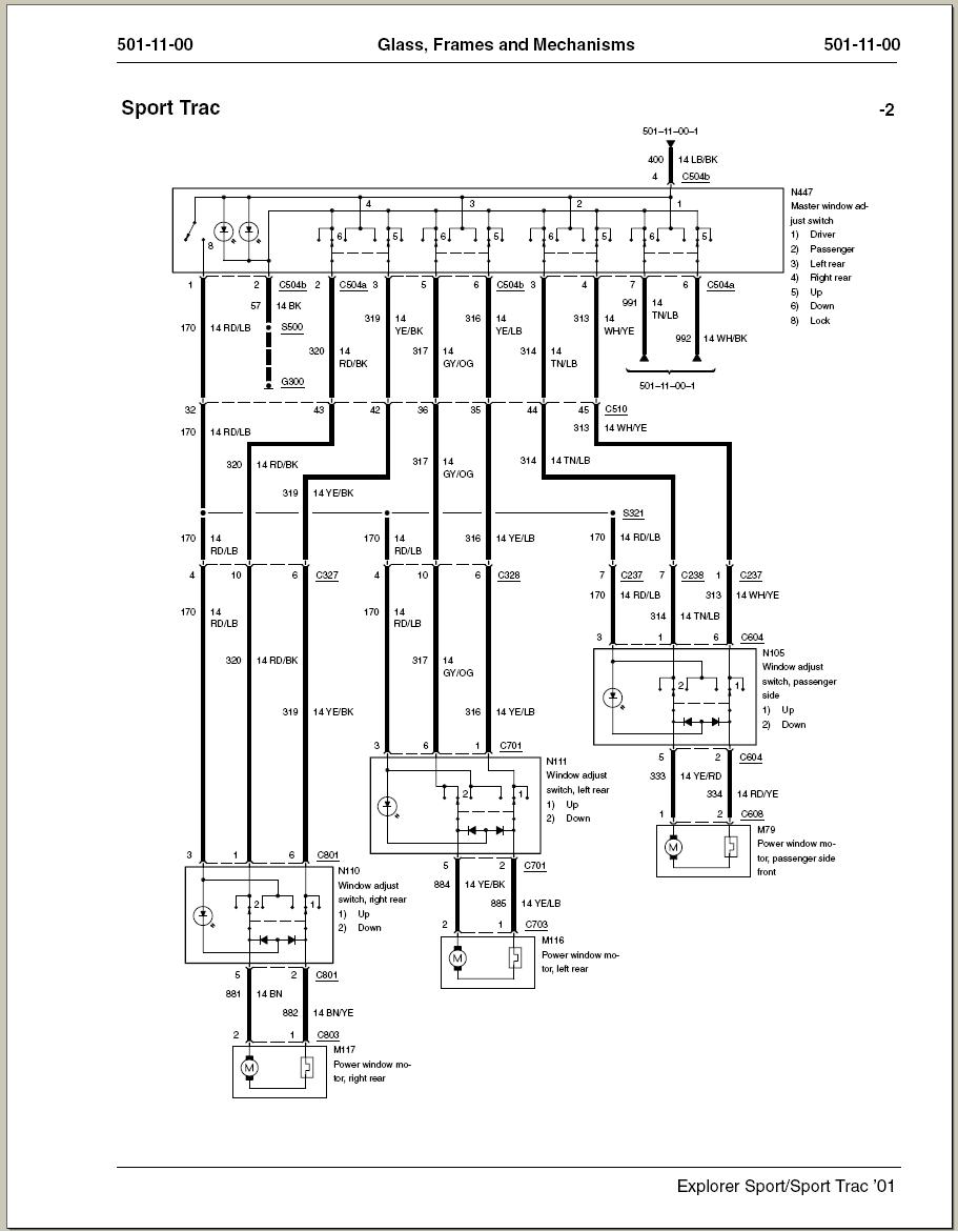 I Have A 2001 Explorer Sport Trac  All Four Power Windows
