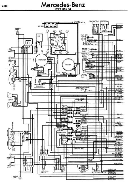 Mercedes sl ignition switch wiring diagram please