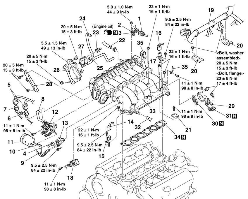 mitsubishi eclipse 3 0 v6 engine diagram