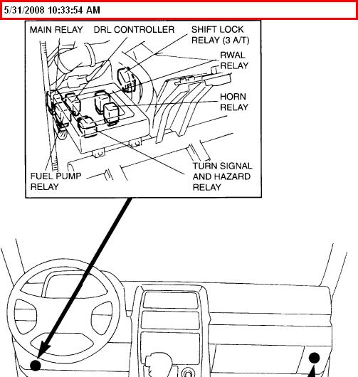 1996 suzuki sidekick turn signal relay location
