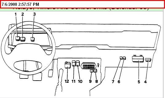 diagnostic relay module mf16   5 mfi ecm unit ecm  6 main mfi relay module  ef6   7 fuel pump relay module ef8