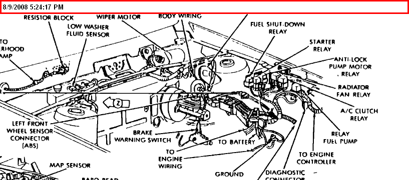 where exactly is the fuel pump relay located on a 1991 chrysler  1991 chrysler lebaron tachometertach risesrpmwiring diagram #3
