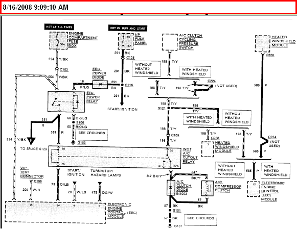 Need Wiring Harness Diagram For A 1990 Lincoln Town Car