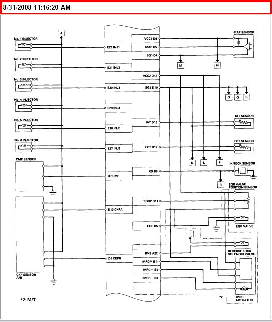 Need Wiring Diagram For An 03 Honda Accord Ex V6 4 Door Specificlly Where They Plug In At The