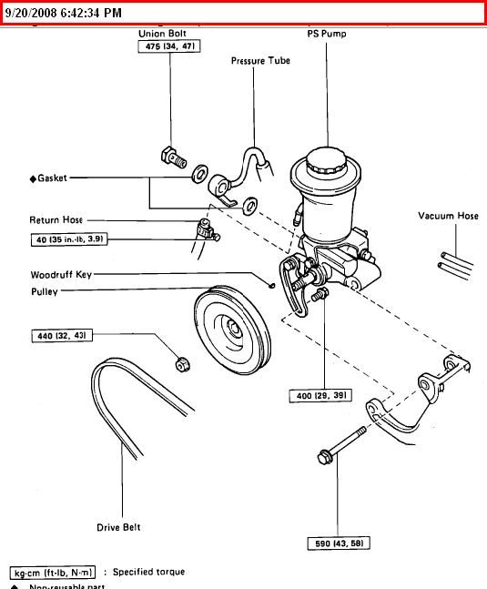 2008 toyota tacoma belt diagram