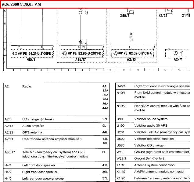 2003 Mercedes C230k Sport Sedan Stereo Wiring Diagram