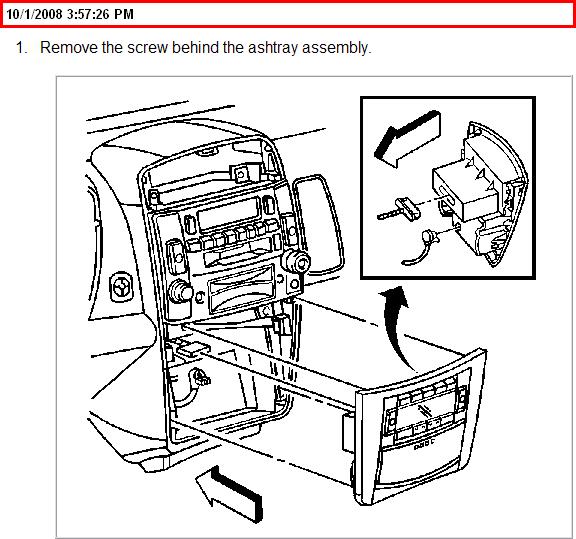 How Do I Remove The Ashtray On My 2005 Cadillac Cts?