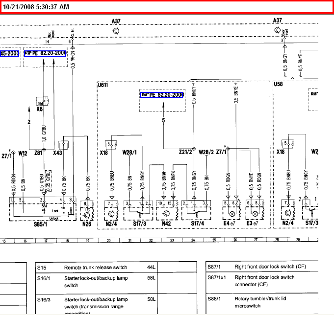 Ideally I Need A Wiring Diagram For 1994 S320  My Problem