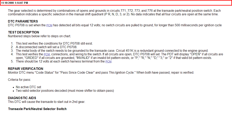 engine code po733