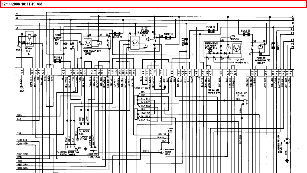 i have a 1979 porsche 928 and need to know which wires go with, Wiring diagram